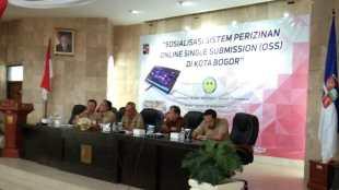Sosialisasi Sistem Perizinan Online Single Submission (OSS) di Kota Bogor, Selasa 18/12/2018 (dok. KM)