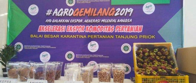 Komoditas pertanian yang siap diekspor melalui Barantan 22/4/2019 (dok. KM)