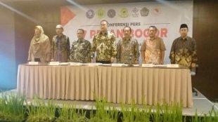 7 rektor perguruan tinggi se-Bogor Raya menyampaikan 7 pesan moral terkait Pemilu, Kamis 9/5/2019 (dok. KM)