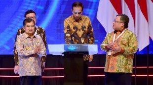 Presiden Joko Widodo meresmikan pembukaan Musyawarah Perencanaan Pembangunan Nasional (Musrenbangnas) 2019 di Ballroom Hotel Shangri-La, Jakarta Pusat, pada Kamis, 9 Mei 2019.