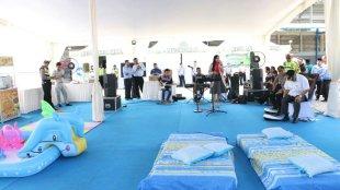Kapolres Kebumen AKBP Roberto Pardede meninjau fasilitas posko mudik terpadu di Kebumen, 1/6/2019 (dok. KM)