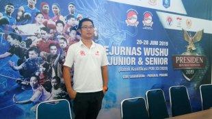 Ketua Panitia Pelaksaan Kejurnas Wushu Piala Presiden 2019 di Babel, Riki Kurniawan (dok. KM)