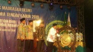 Kakanwil Kemenag Provinsi Jawa Tengah membuka Kompetisi Sains Madrasah 2019 di Kebumen, Rabu 14/8/2019