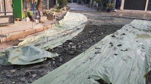 Lokasi pekerjaan betonisasi jalan di Perumahan Permata Regensi Jalan Jambu I. Kelurahan Wanasari Kecamatan Cibitung Kabupaten Bekasi (dok. KM)
