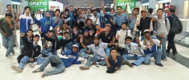 Pelajar SMK asal Banten yang turut serta dalam aksi protes mahasiswa di Jakarta, Rabu 25/9/2019 (dok. KM)