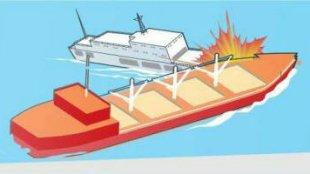 Ilustrasi tabrakan kapal