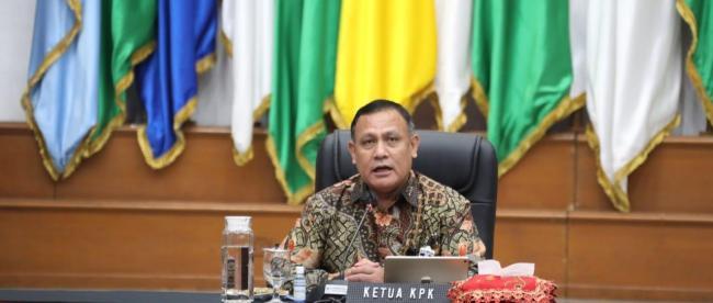 Video Conference Ketua KPK bersama Menteri Dalam Negeri, Ketua BPK, Kepala LKPP, Bupati dan Walikota seluruh Indonesia, Rabu 8/4/2020 (dok. KM)