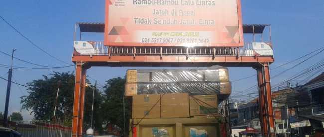 JPO di depan Stasiun Bekasi yang ditunda pembangunannya (dok. KM)