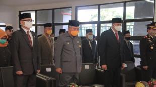 Wali Kota Bekasi dan Jajaran Saat Upacara Hari Lahir Pancasila melalui VCON Presiden RI (dok. KM)