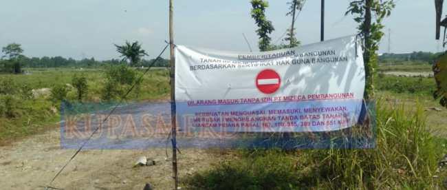 Tanah yang dipersengketakan di Desa Cempelang, Kecamatan Jawilan, Kabupaten Serang, Banten (dok. KM)