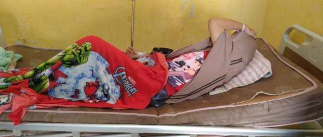 Ibu Mar, warga yang menjerit kesakitan akibat tidak ada pelayanan RSUD Tengku Mansyur Kota Tanjungbalai (dok. KM)