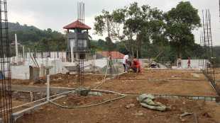 """Pembangunan perumahan """"Vila Nusa Indah"""" di Desa Cijeruk, Kecamatan Cijeruk, Kabupaten Bogor (dok. KM)"""
