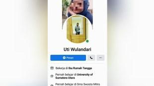 Salah satu akun pelaku penipuan online yang menjerumuskan warga Tanjungbalai, Sumatera Utara (dok. KM)