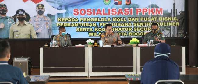 Sosialisasi PPKM Kepada Pengelola Mall Dan Pusat Bisnis, Perkantoran, Pengusaha Kuliner (dok. KM)