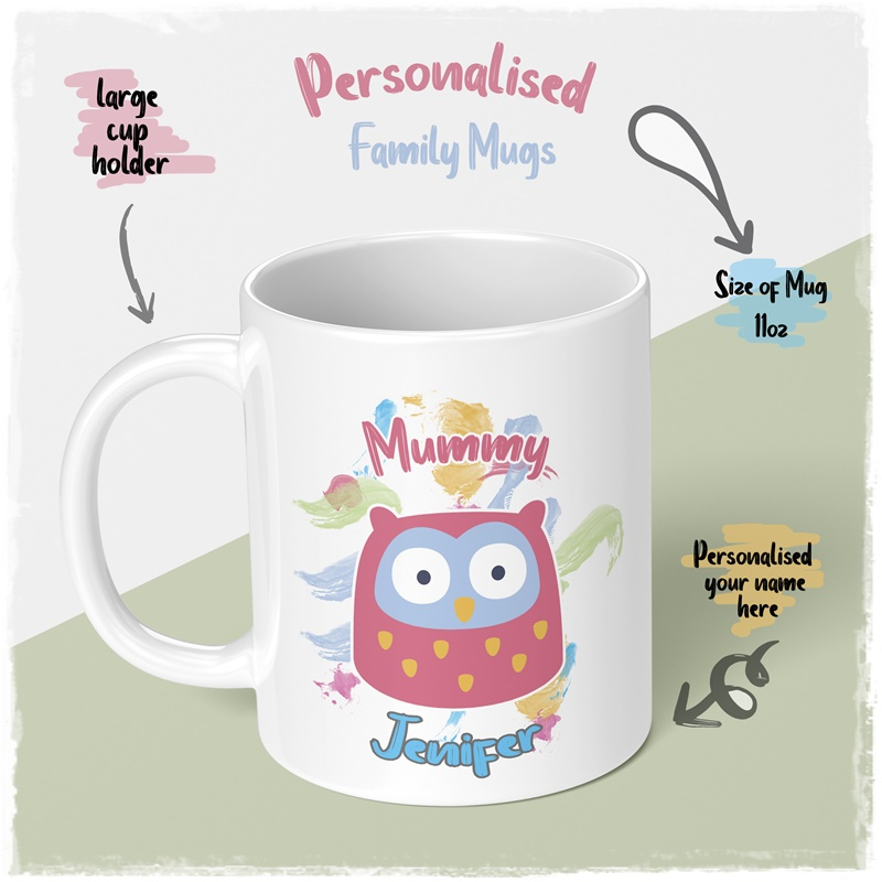 Personalised family mug for dother and mummy big mug and smal onebig mug for her mummy