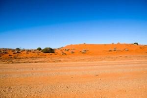 Roter Sand Vs Blauer Himmel