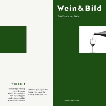 Faltkarte Wein & Bild