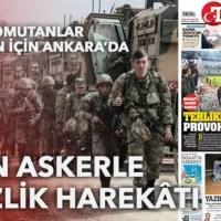 صحيفة تركية : العملية العسكرية التركية ستكون عبر خطين رئيسين، وسينفذها جيش قوامه 35 ألف مقاتل.