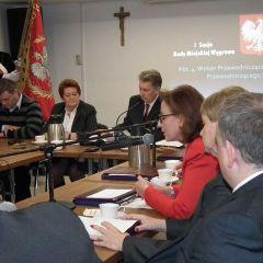 I sesja Rady Miejskiej w Węgrowie