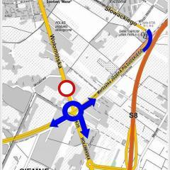 Od 5 lipca nowe rondo na ul. Wołomińskiej częściowo otwarte!
