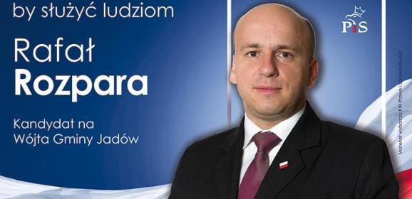 Samorządowiec, prezes, bibliotekarz, społecznik – Rafał Rozpara kandydatem na wójta gminy Jadów