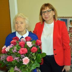 Wołomin właśnie skończył 100 lat i Pani Eugenia Adamowicz – mieszkanka Wołomina również!