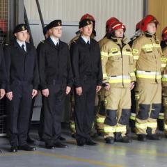Uroczysty apel z okazji Dnia Strażaka w Komendzie Powiatowej Państwowej Straży Pożarnej w Wołominie