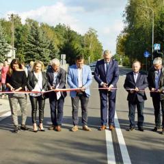 Uroczyste otwarcie ulicy Weteranów i ścieżki rowerowej w Łąkach
