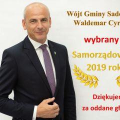 Waldemar Cyran wójt gminy Sadowne został wybrany Samorządowcem 2019 roku