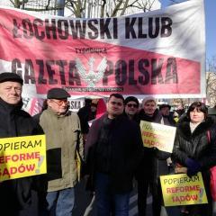 Demonstracja poparcia dla reformy sądownictwa