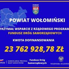 23,7 mln złotych dofinansowania na modernizację dróg powiatu