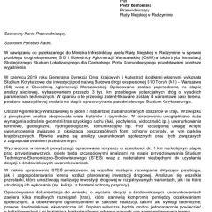 Jest odpowiedź Ministerstwa Infrastruktury na Apel Rady Miejskiej w Radzyminie