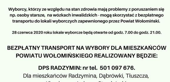 Komunikat Starosty Wołomińskiego Adama Lubiaka