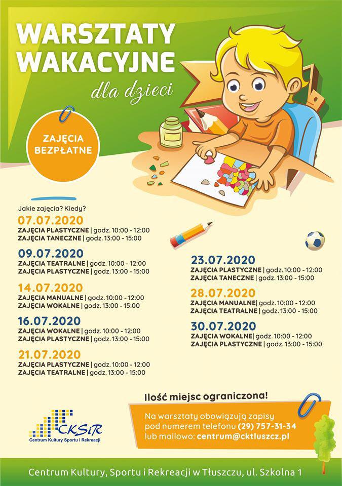 Tłuszcz Warsztaty wakacyjne dla dzieci