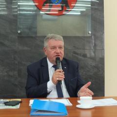Wicewojewoda mazowiecki Sylwester Dąbrowski z wizytą w powiecie węgrowskim