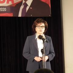 Marszałek Sejmu Elżbieta Witek spotkała się z mieszkańcami Pułtuska