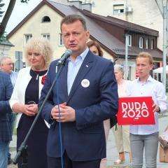 Mariusz Błaszczak z wizytą w Węgrowie