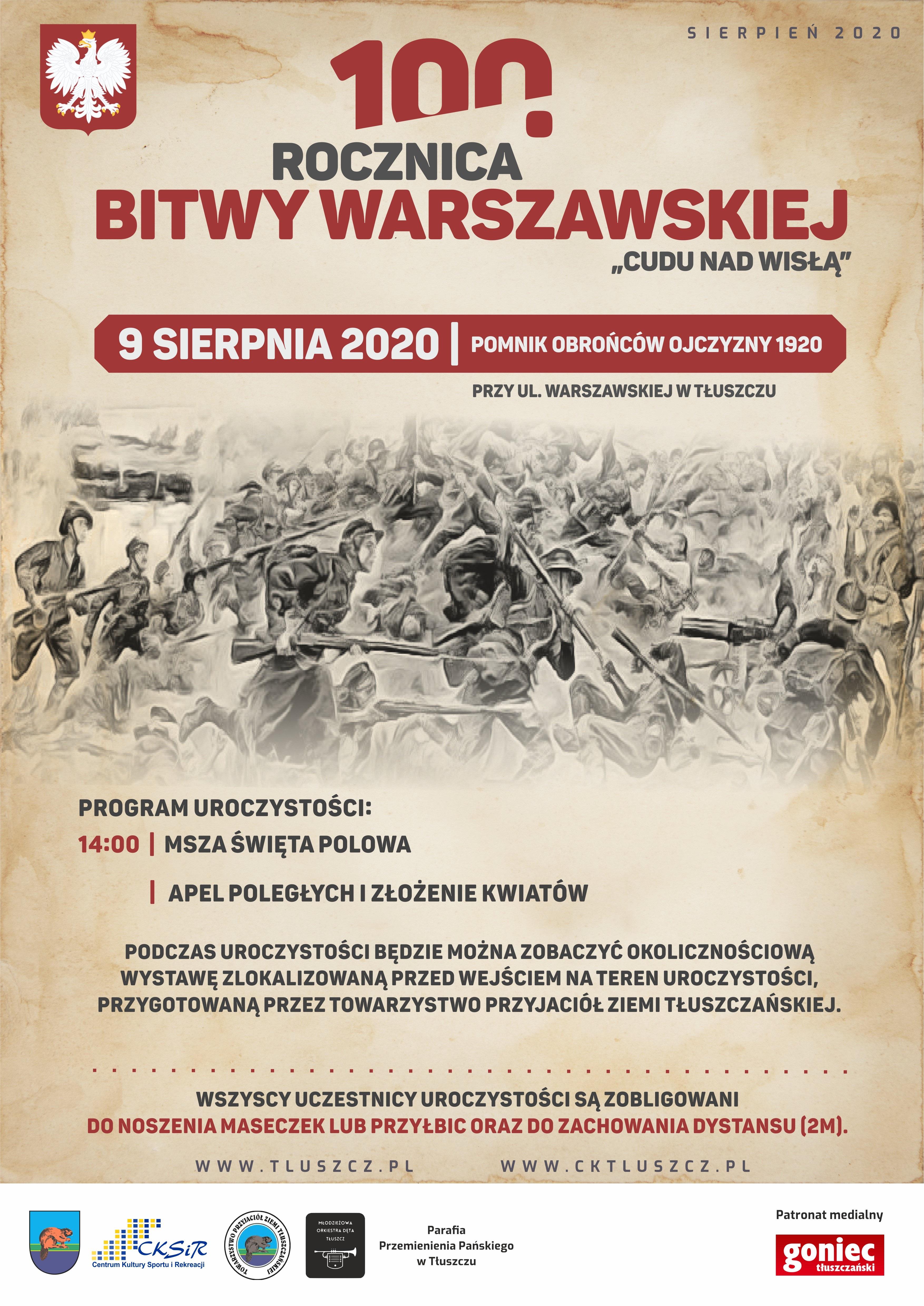9.08. 100 rocznica Bitwy Warszawskiej Tłuszcz.
