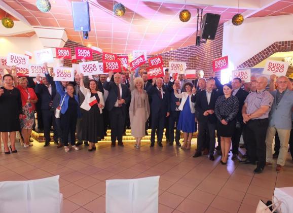 Konferencja w Węgrowie nt. współpracy samorządów Mazowsza z Prezydentem RP Andrzejem Dudą