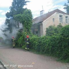 Pożar budynku w Zielonce