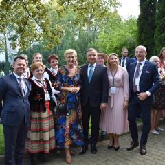 Wieniec z sołectwa Sadoleś i gmina Sadowne reprezentowali Mazowsze na Dożynkach Prezydenckich w Warszawie