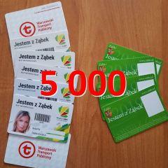 """Już ponad 5 000 nowych kart """"Jestem z Ząbek"""" trafiło do mieszkańców!"""