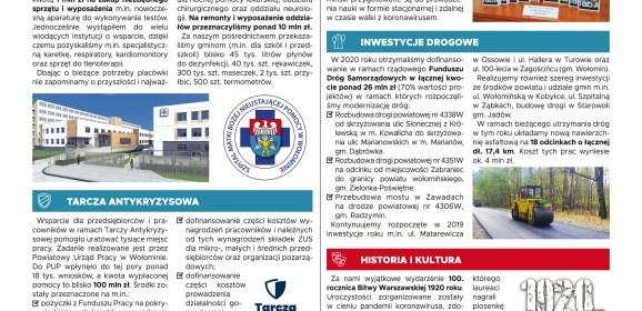 Roczne sprawozdanie Starosty z pracy Zarządu Powiatu Wołomińskiego w 2020 roku