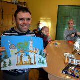 Mieszkańcy DPS w Niegowie zaprojektowali świąteczne kartki dla Powiatu Wyszkowskiego