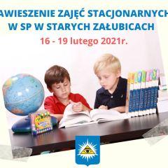 Szkoła Podstawowa w Załubicach zawiesza zajęcia stacjonarne z powodu koronawirusa!