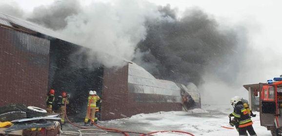 Pożar we wsi Pieńki Wielkie