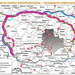 """GDDKiA wskazała """"najkorzystniejszy"""" wariant korytarza Autostradowej Obwodnicy Warszawy!"""