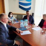 Spotkanie Starosty Adama Lubiaka z Dyrektor RZGW w Warszawie w sprawie obszarów zalewowych