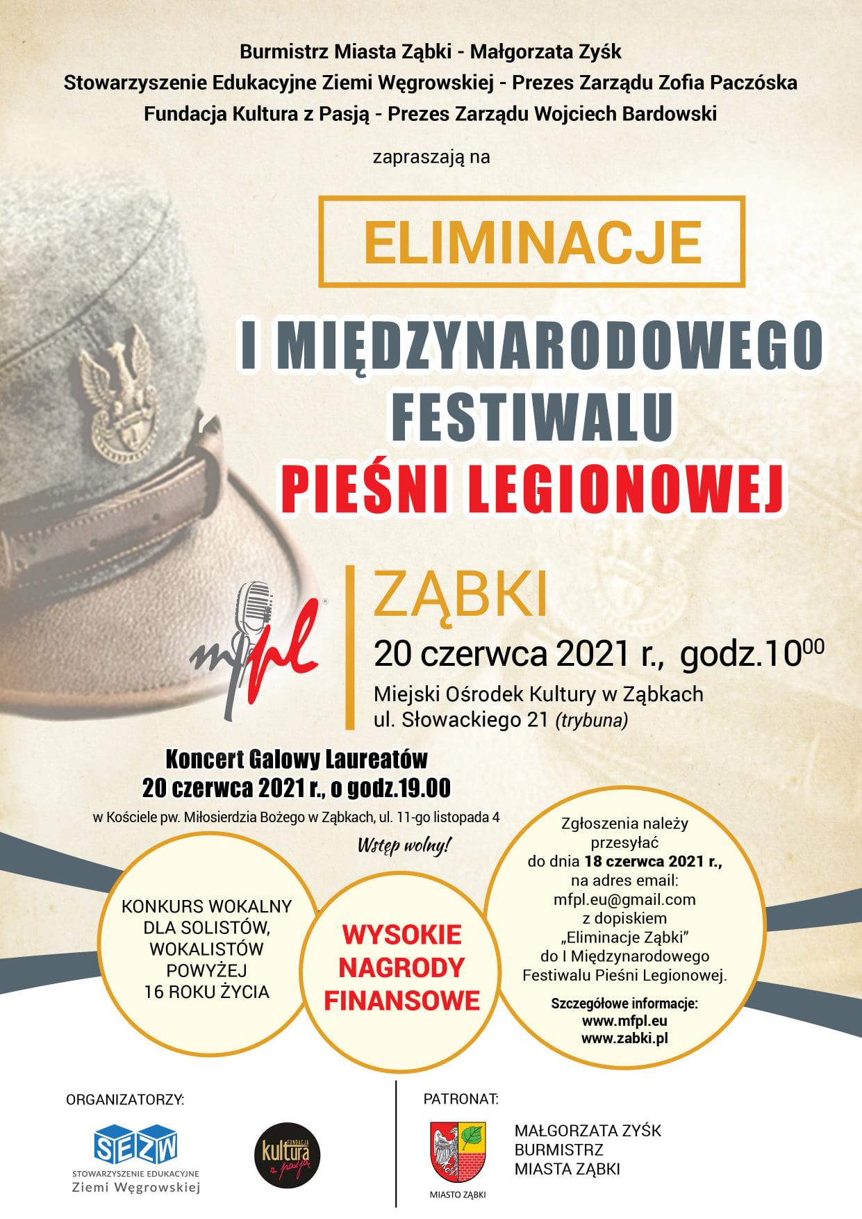 Eliminacje I Międzynarodowego Festiwalu Pieśni Legionowej Ząbki