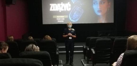 Lekcje bezpieczeństwa w kinie Wyszkowskiego Ośrodka Kultury